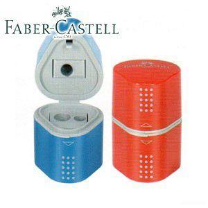 ファーバーカステル グリップ2001 カラー3穴プラスチックシャープナー 5個セット No. 183801|nomado1230