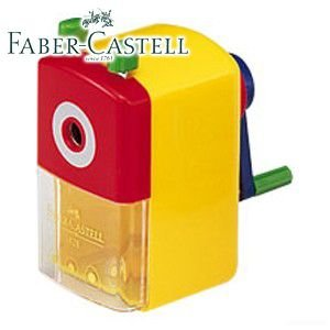 ファーバーカステル カラフルシリーズ スタンダード 鉛筆削り (イエロー) TFC-182807|nomado1230