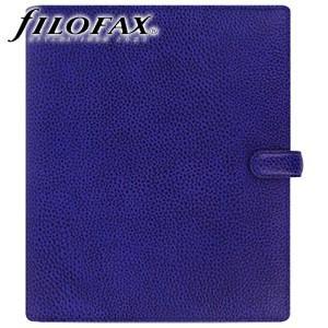 システム手帳 A5 革 ファイロファクス 名入れ無料 フィンスバリー A5 システム手帳 ブルー No. 022500|nomado1230