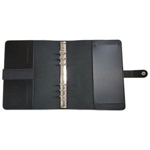 システム手帳 A5 革 ファイロファクス 名入れ無料 オリジナル 日本限定モデル A5 システム手帳 マットブラック No. 022509|nomado1230|03