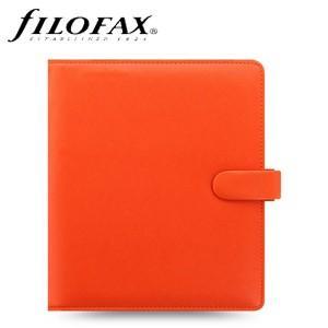 システム手帳 A5 ファイロファクス 名入れ無料 サフィアーノ A5 システム手帳 オレンジ No. 022585|nomado1230