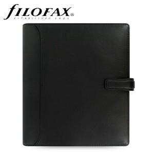 システム手帳 A5 革 ファイロファクス 名入れ無料 ナッパ A5 システム手帳 ブラック No. 025137|nomado1230