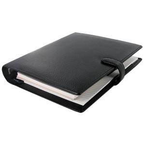 システム手帳 A5 革 ファイロファクス 名入れ無料 フィンスバリー A5 システム手帳 ブラック No. 025368|nomado1230|02