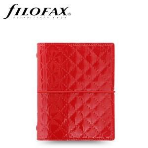 システム手帳 ポケットサイズ ファイロファクス ドミノ リュクス ポケット スモール システム手帳 レッド No. 027991|nomado1230