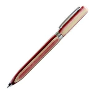 高級 ボールペン 名入れ フィオレンティーナ ルーチェ ピンクウッド ボールペン 2本セット BD07-24|nomado1230