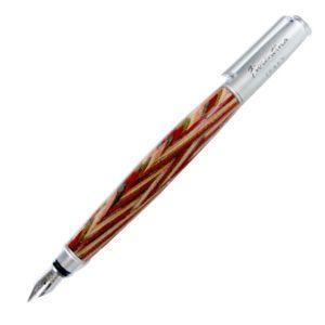 万年筆 名入れ フィオレンティーナ オーバル レッドウッド 万年筆 2本セット F23-18|nomado1230
