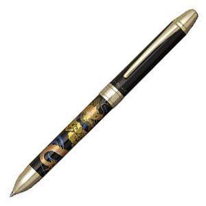 高級 マルチペン 名入れ プラチナ万年筆 ダブル3アクション 近代蒔絵 マルチペン 昇龍 MWB-3000RMcl2|nomado1230