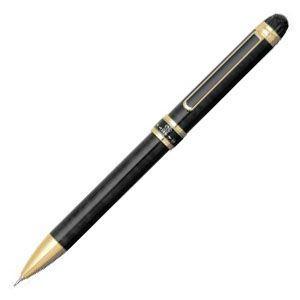 高級 マルチペン 名入れ プラチナ万年筆 ダブル3アクション マーブルカラー スリム マルチペン ブラックマーブル MWB-3000RNcl1|nomado1230