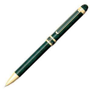 高級 マルチペン 名入れ プラチナ万年筆 ダブル3アクション マーブルカラー スリム マルチペン グリーンマーブル MWB-3000RNcl41|nomado1230