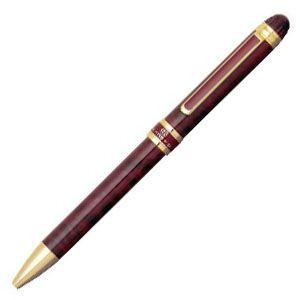 高級 マルチペン 名入れ プラチナ万年筆 ダブル3アクション マーブルカラー スリム マルチペン レッドマーブル MWB-3000RNcl70|nomado1230