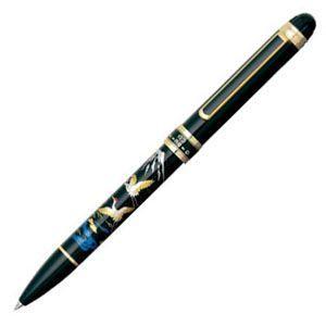 高級 マルチペン 名入れ プラチナ万年筆 ダブル3アクション 近代蒔絵 マルチペン ツル MWB5000RM-18|nomado1230