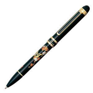 高級 マルチペン 名入れ プラチナ万年筆 ダブル3アクション 近代蒔絵 マルチペン ウメニウグイス MWB5000RM-31|nomado1230