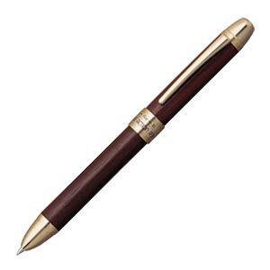 高級 マルチペン 名入れ プラチナ万年筆 ダブルR3アクション 高級木製 シャープペン+ボールペン黒・赤 多機能ペン ローズウッド MWB-5000RW-65|nomado1230