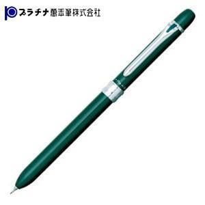 高級 マルチペン 名入れ プラチナ万年筆 ダブル3アクション スタンダード スーパースリム マルチペン グリーン MWBS-1500cl41 nomado1230