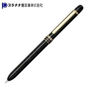 高級 マルチペン 名入れ プラチナ万年筆 ダブル3アクション マーブルカラー スーパースリム ゴールドクリップ マルチペン ブラックマーブル MWBS-2000-1|nomado1230