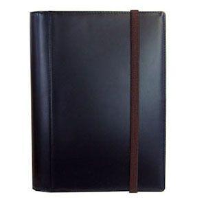 手帳カバー A6 革 ブリットハウス THEME ガラスレザーシリーズ A6サイズ ブラック 手帳カバー TH-1110BK|nomado1230