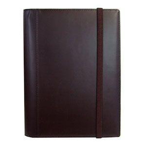 手帳カバー A6 革 ブリットハウス THEME ガラスレザーシリーズ A6サイズ ダークブラウン 手帳カバー TH-1110DB|nomado1230