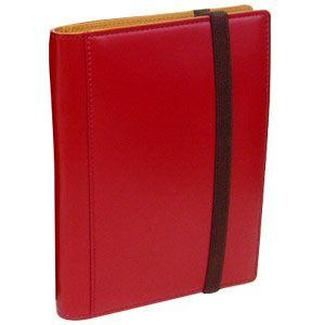 手帳カバー A6 革 ブリットハウス THEME ガラスレザーシリーズ A6サイズ レッド 手帳カバー TH-1110RD|nomado1230