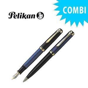 ペリカン スペシャルコンビセット スーベレーン 600シリーズ 万年筆&ボールペン クリーニングクロス付き ブルー縞 M600 BLCOMBISET|nomado1230