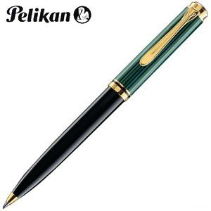 高級 ボールペン 名入れ ペリカン ボールペン替芯 クロ F細字 プレゼント対象商品 スーベレーン K800 ボールペン 緑縞 K800 GR|nomado1230