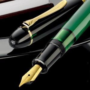 万年筆 名入れ ペリカン 即納 特別生産品 M120 グリーンブラック 万年筆 M120|nomado1230