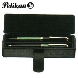 ペンケース 革 名入れ ペリカン レザー ペンケース 2本用 ブラック PB-1|nomado1230