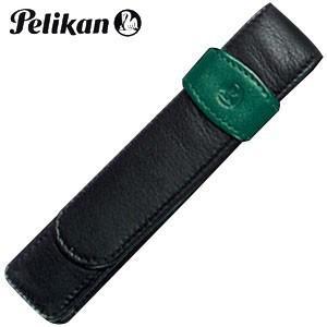 ペンケース 革 名入れ ペリカン レザー ペンケース 1本用 グリーン TG-12|nomado1230