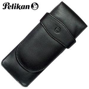 ペンケース 革 名入れ ペリカン レザー ペンケース 3本用 ブラック TG-31|nomado1230