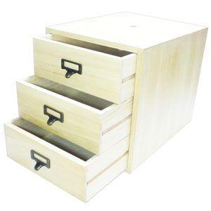 書類ケース 木製 A4 武周木工 3段引き出し A4書類 BSSYO3A4 nomado1230 03