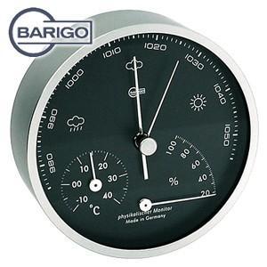 インテリア バリゴ(BALIGO) ラウンド型 温湿気圧計 マットシルバー BG 101-5|nomado1230
