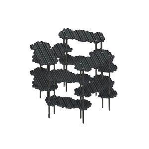 インテリア メタフィス プロル ブラック シェルフシステム サークルセット 23073-BK|nomado1230