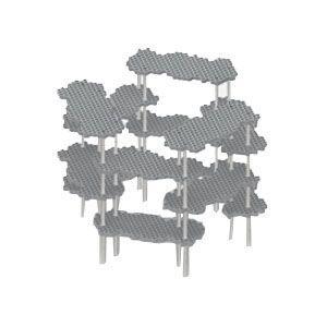 インテリア メタフィス プロル グレー 無塗装 シェルフシステム サークルセット 23073-GY|nomado1230