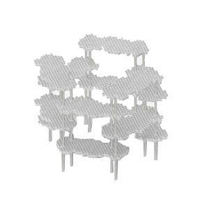 インテリア メタフィス プロル ホワイト シェルフシステム サークルセット 23073-WH|nomado1230