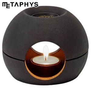 インテリア メタフィス サエン 茶香炉 ブラック 25080-BK|nomado1230