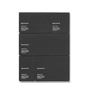 ノート メタフィス ブランクシリーズ ブランク フォー クリエーターズ ノート 5冊セット ブラック 44110-44114BK|nomado1230