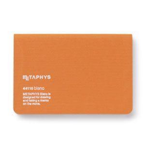 ノート メタフィス ブランクシリーズ 130ミリ×80ミリ ノート 3冊セット オレンジ 44110GOR|nomado1230