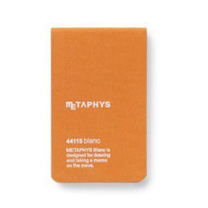 ノート メタフィス ブランクシリーズ 65ミリ×105ミリ ノート 3冊セット オレンジ 44113GOR|nomado1230