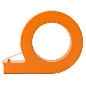 テープカッター おしゃれ メタフィス holo ホロ ハンディーテープカッター オレンジ 5セット 44170OR|nomado1230