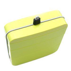 弁当箱 おしゃれ メタフィス オジュウ ライトグリーン ランチボックス 箸なし 4セット 63010-LG|nomado1230