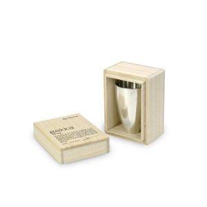 おちょこ メタフィス ゲッカ 光沢シルバー 錫製お猪口単品 熱爛用 63041-HC|nomado1230