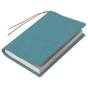 ブックカバー 革 メタフィス セバンズ 新書用 ブックカバー ブルー 3セット 83012-BL|nomado1230