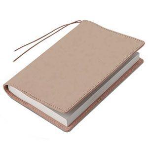 ブックカバー 革 メタフィス セバンズ 文庫用 ブックカバー グレージュ 3セット 83013-GG|nomado1230