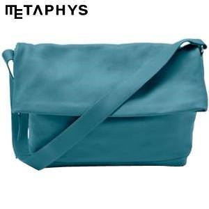 ショルダーバッグ 革 メタフィス セバンズ 口折れショルダーバッグS ブルー 84053-BL|nomado1230
