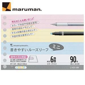 ルーズリーフ B7 マルマン 書きやすいルーズリーフ ミニ B7変形 90枚 10セット L1431-99|nomado1230