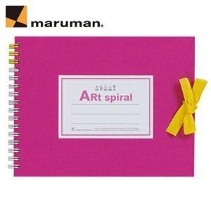 スケッチブック F0 マルマン アートスパイラル F0サイズ 24枚 5冊セット スケッチブック ピンク S310-08|nomado1230