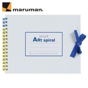 スケッチブック F0 マルマン アートスパイラル F0サイズ 24枚 5冊セット スケッチブック ホワイト S310-06|nomado1230