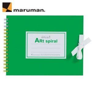 スケッチブック F0 マルマン アートスパイラル F0サイズ 24枚 5冊セット スケッチブック ライトグリーン S310-33|nomado1230