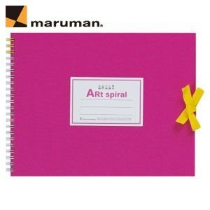 スケッチブック F1 マルマン アートスパイラル F1サイズ 24枚 5冊セット スケッチブック ピンク S311-08|nomado1230