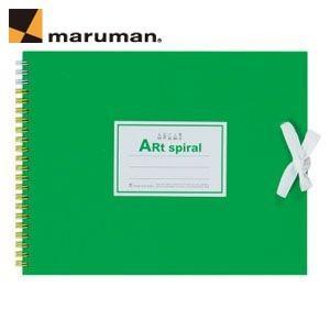 スケッチブック F1 マルマン アートスパイラル F1サイズ 24枚 5冊セット スケッチブック ライトグリーン S311-33|nomado1230