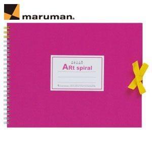 スケッチブック F2 マルマン アートスパイラル F2サイズ 24枚 5冊セット スケッチブック ピンク S312-08|nomado1230